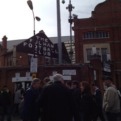 Photo taken at Craven Cottage by Joe S. on 4/21/2012