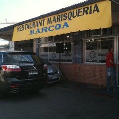 Photo taken at Restaurant Marisquería Marcoa by Mati G. on 4/1/2012
