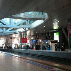 Photo taken at Frankfurt (Main) Flughafen Fernbahnhof by Marco B. on 3/20/2012