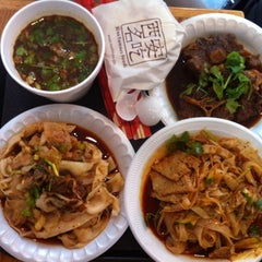Photo taken at Xi'an Famous Foods by Sandy K. on 7/12/2012