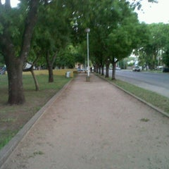 Photo taken at Plaza Falucho by Juan M. on 1/26/2012