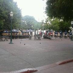 Photo taken at Plaza Dorrego by Rutzen F. on 12/29/2011