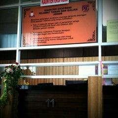 Photo taken at Pejabat Tanah Dan Galian, Johor by TAUFIK M. on 2/10/2012