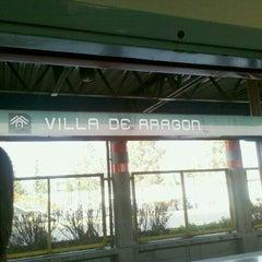 Photo taken at Metro Villa De Aragón (Línea B) by Orlando S. on 1/23/2012