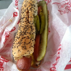 Photo taken at Portillo's Hot Dogs by Liberty B. on 4/3/2012