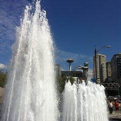 Photo taken at Father & Son Fountain by January F. on 8/18/2011