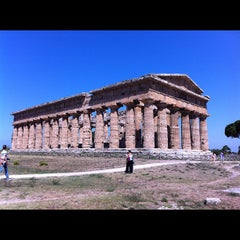 Photo taken at Area Archeologica di Paestum by Stefano P. on 8/16/2012