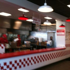 Photo taken at Five Guys Burgers And Fries by Peggy F. on 3/30/2012