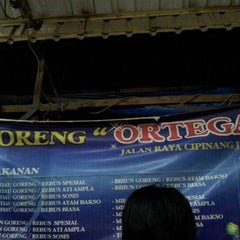 Photo taken at Nasi Goreng Ortega by Widodo C. on 9/1/2012