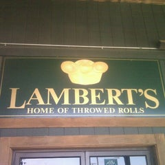 Photo taken at Lambert's Cafe by Marjorie S. on 5/13/2012