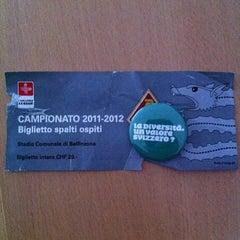 Photo taken at Stadio Comunale, Bellinzona by Mckenzie on 5/6/2012