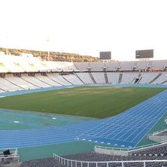 Photo taken at Estadi Olímpic Lluís Companys by Helber B. on 11/26/2011