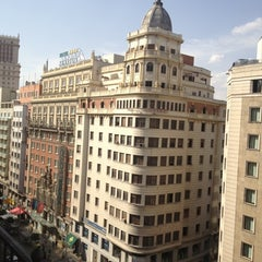 Photo taken at Hotel Emperador Madrid by V B. on 7/25/2012