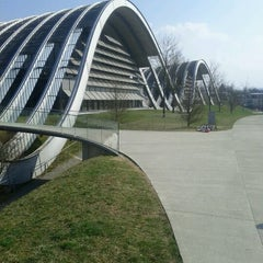 Photo taken at Zentrum Paul Klee by Andy K. on 3/25/2012