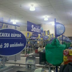 Photo taken at Lopes Supermercados by Manoel Antônio A. on 10/18/2011