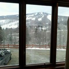 Photo taken at Mount Snow Main Base Lodge by Joseph G. on 2/17/2012