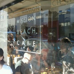 Photo taken at Mission Beach Cafe by Alexander S. on 1/14/2012