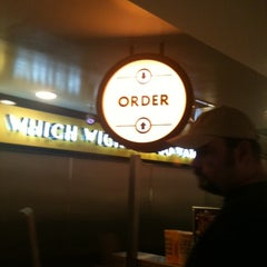 Photo taken at Which Wich? Superior Sandwiches by Maya G. on 7/3/2011