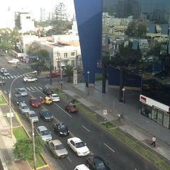 Photo taken at Telefónica del Perú (Torre Azul) by Ruben M. on 6/25/2012