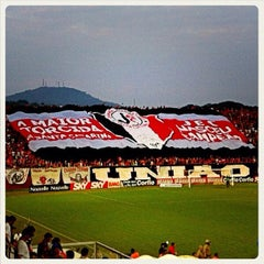 Photo taken at Estádio Arena Joinville by Paulo Henrique S. on 9/8/2012