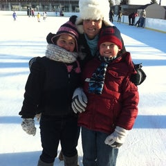 Photo taken at larz anderson skating rink by Jackie S. on 1/15/2012