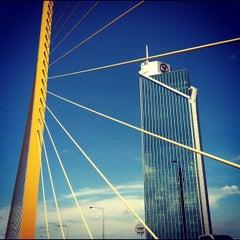 Photo taken at สะพานพระราม 9 (Rama IX Bridge) by Hans J. on 5/4/2012