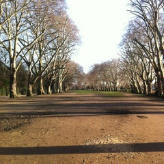 Photo taken at Bishop's Park by Nikos K. on 1/16/2012