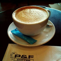 Photo taken at P&F Coffee by Daniel P. on 3/12/2012
