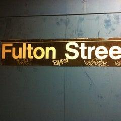 Photo taken at MTA Subway - Fulton St (A/C/J/Z/2/3/4/5) by Brian S. on 4/4/2011