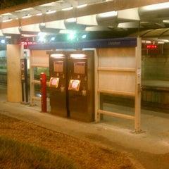 Photo taken at MetroLink - Delmar Loop Station by Chay R. on 10/13/2011