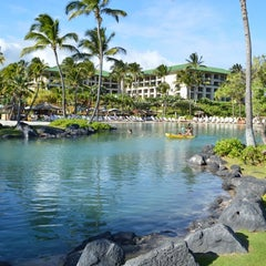 Photo taken at Grand Hyatt Kauai Resort and Spa by Carlos V. on 9/7/2012