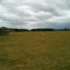 Photo taken at Kaposia Landing Off-Leash Dog Park by Rocki F. on 9/29/2011