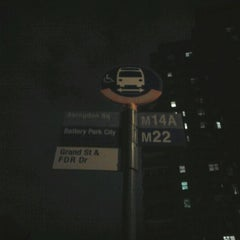 Photo taken at MTA MaBSTOA Bus - M14A / M21 / M22 At Grand Street / FDR Drive by 0zzzy on 11/14/2011