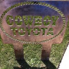 Photo taken at Cowboy Toyota by Jeremy J. on 4/19/2012