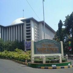 Photo taken at Masjid Istiqlal by Ahmad L. on 8/9/2012