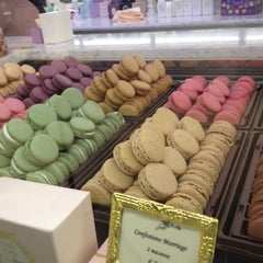 Photo taken at Ladurée by Andrea M. F. on 4/18/2012