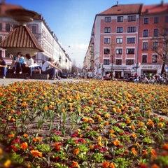 Photo taken at Gärtnerplatz by Kai F. on 3/25/2012