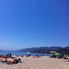 Photo taken at Will Rogers State Beach by Lauren F. on 7/9/2012