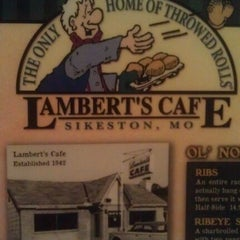 Photo taken at Lambert's Cafe by Linda R. on 3/30/2012