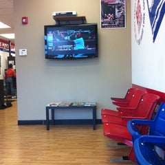 Photo taken at Big League Barbers by Tabitha M. on 9/23/2011