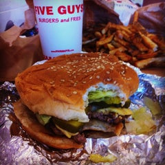 Photo taken at Five Guys by Britney C. on 6/23/2012