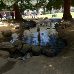 Photo taken at Frog Park by Emily D. on 7/5/2012