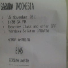 Photo taken at Garuda Indonesia Danareksa by Aina D. on 11/15/2011