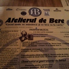 Photo taken at Atelierul de bere by Janos R. on 1/27/2012