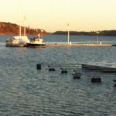 Photo taken at Gåshaga Marina by Hillevi on 12/31/2011