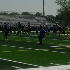 Photo taken at Memorial Field EGR Stadium by LaKeesha P. on 7/23/2012