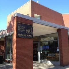 Photo taken at Boston Public Library - South End Branch by Jordan L. on 4/19/2012