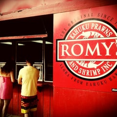 Photo taken at Romy's Kahuku Prawns & Shrimp Hut by Ron P. on 8/4/2012