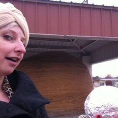 Photo taken at World's Largest Ball Of Twine   (made by a community) by Lefty L. on 3/7/2012