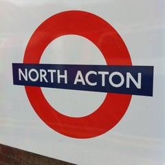 Photo taken at North Acton London Underground Station by Aphiwat L. on 3/25/2011
